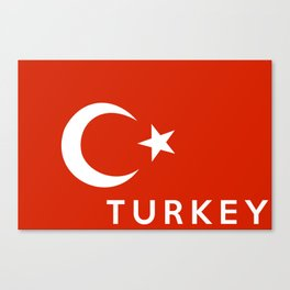 Turkey country flag name text Canvas Print