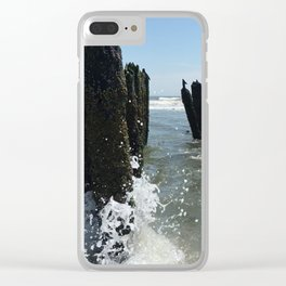 Ocean waves crash Clear iPhone Case