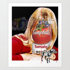 Shop the Tomato Soup Face Woman Art Print