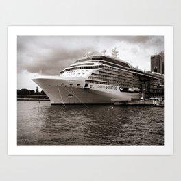 Celebrity Solstice Cruise Ship Art Print