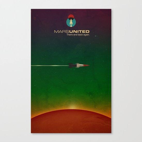 Mars United In Flight Canvas Print