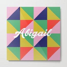 Abigail Geo Brights Metal Print