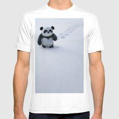 Zeke the Zen Panda Mens Fitted Tee MEDIUM White
