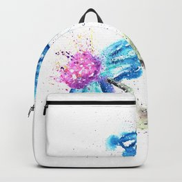 Blue Flowers Painting Backpack