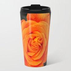 Romantic Rose Orange Travel Mug