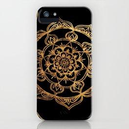 Gold Foil Mandala iPhone Case
