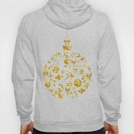 Golden Shimmering Christmas Ornament Bauble Hoody