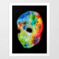 Colorful head. Art Print