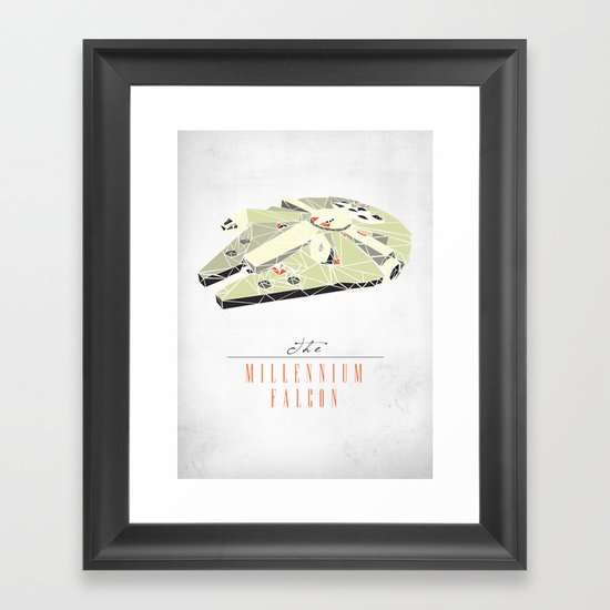 The Millennium Falcon Framed Art Print