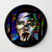 actor Wall Clocks featuring Christopher Walken. Cracked Actor. by brett66