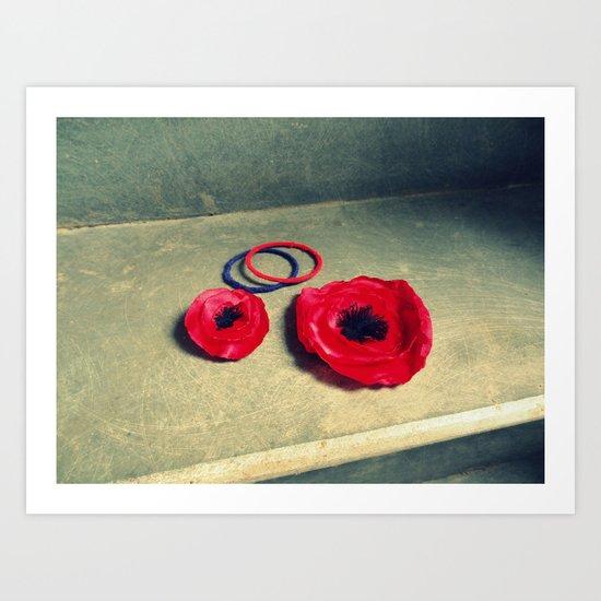 Crimson, Vermilion or Scarlet Art Print