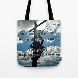 Support your Lineman Tote Bag