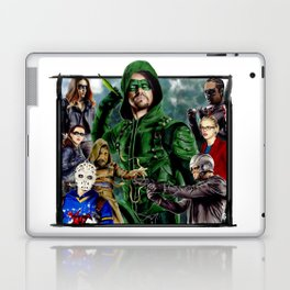 Team ARROW - season 4(Green Arrow,Felicity Smoak,Spartan,OTA) Laptop & iPad Skin