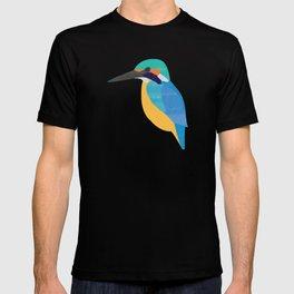 Kingfisher On Blue T-shirt