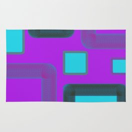 Cotton candy squares Rug