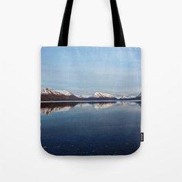 Mountains on Karluk Lake Photography Print Tote Bag