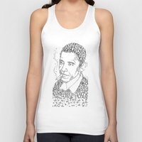 obama Tank Tops featuring obama times by Vin Zzep