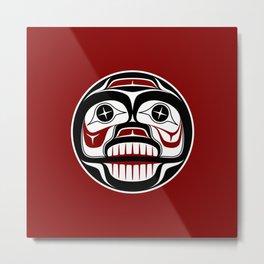 Northwest Pacific coast Haida Weeping skull Metal Print
