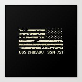 USS Chicago Canvas Print