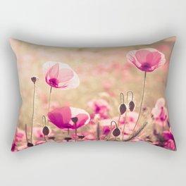 Heaven - poppy flowers photography Rectangular Pillow