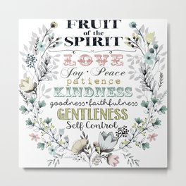 Fruit of the Spirit (darker color palette) Metal Print