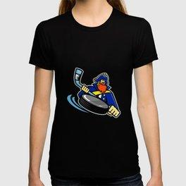 Swashbuckler Ice Hockey Sports Mascot T-shirt