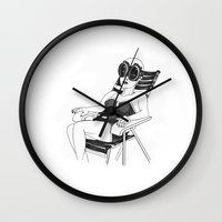 women Wall Clocks featuring Women by Vilnis Klints