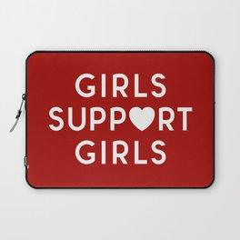 Girls Support Girls Feminist Quote Laptop Sleeve