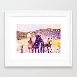 Southwest Horse Ranch Horses Framed Art Print