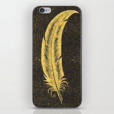 Yellow Feather iPhone & iPod Skin