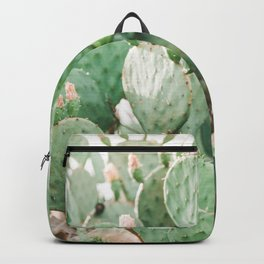 Cactus Flowers Pink And Green Desert Life Backpack