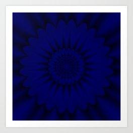 A flor do espaço físico Art Print