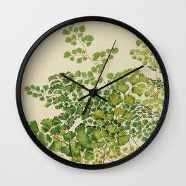 Maidenhair Ferns Wall Clock