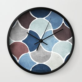 Moroccan Blues Wall Clock
