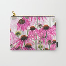 pink coneflower field Carry-All Pouch