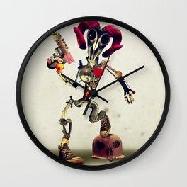 Invader Skull Wall Clock