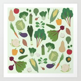 Make Friends With Vegetables Art Print
