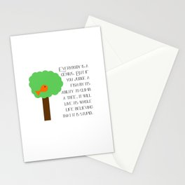 Everybody is a genius - Albert Einstein Stationery Cards