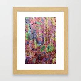 Trippy Forest 2 Framed Art Print