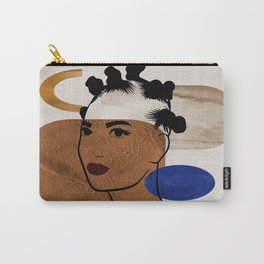 Afro Hair Style - Bantu Knots Carry-All Pouch