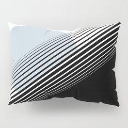 Rising Sun Minimal Japanese Abstract White Black Blue Pillow Sham