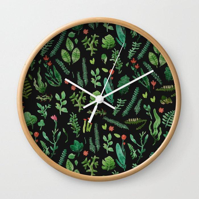 Green garden at nigth 3 Wall Clock