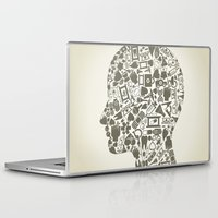 medicine Laptop & iPad Skins featuring Head medicine by aleksander1