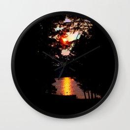Hidden Lake Sunset Wall Clock