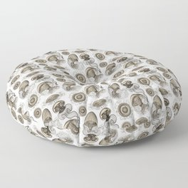 Ernst Haeckel Jellyfish Leptomedusae Wenge Floor Pillow