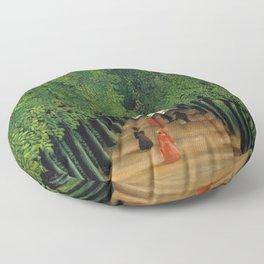 Henri Rousseau - The Avenue in the Park at Saint Cloud Floor Pillow