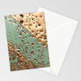 Melting Gold - Encaustic painting on stone Stationery Cards