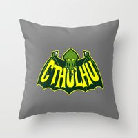 cthulhu Throw Pillows featuring Cthulhu by Buby87