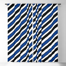 TEAM COLORS 1…Black, navy and white team  colors Blackout Curtain