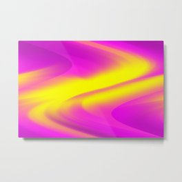DREAM PATH (Purples, Fuchsias & Yellows) Metal Print